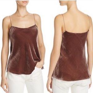 5/$25 Nally & Millie brown velvet cami XL